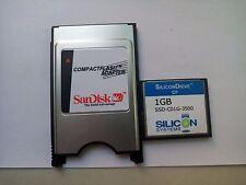 SiliconDrive  1GB Compact Flash +ATA PC card PCMCIA Adapter JANOME Machines