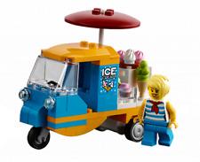 LEGO City Tuk Tuk Ice Cream Van Scooter With Minifigure Train Town Scenery 60197