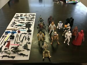 Star Wars Hasbro Power of the Force Lot of Figures black TON of accessories!