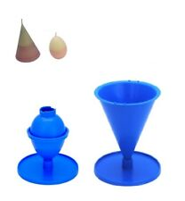 Set x 2, Egg/Oval Shaped & Cone Shaped Candle Moulds Molds. S7684
