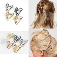 New Hairband Issuing Card Geometric Rose Gold Metal Hair Clip Hair Accessories