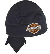 Harley-Davidson® Bar & Shield Logo Air Flow Head-Wrap Black Doo-Rag HW10830