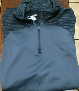 women's Under Armour L/S 1/4 zip Pullover size XL fitted black, gray