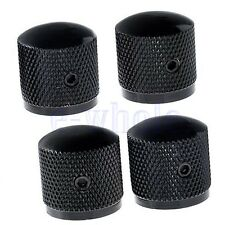 4 PCS Black Metal Volume Tone Control Electric Guitar Bass Dome 6mm Knobs  HM