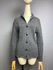 IRIS VON ARNIM Cardigan Sweater Size M Womens Wool blend Thick Knit Logo Buttons