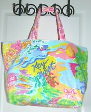 LILLY PULITZER   Destination Cotton Terry Tote    KEY WEST    NWT    $118