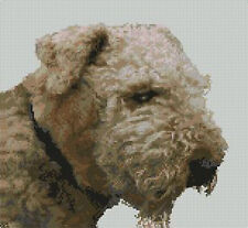 "Airedale Terrier Dog Counted Cross Stitch Kit 11"" x 10"""
