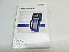 Hart 475 Field Communicator Maunal