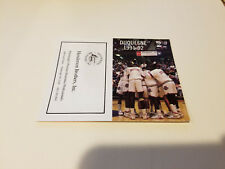 Duquesne University 1991/92 Mens Basketball Pocket Schedule - Henderson Brothers