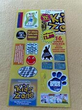 Sticker Sammelsticker Anime Stickerbogen Kids Zone Pokemon DBZ Sprüche