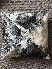 """Black & White  Cowhide Cushion - Handmade - 16"""" x 16"""""""