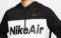 Nike Air Colorblock Fleece Hoodie Mens NEW Hooded Sweatshirt Black MEDIUM M
