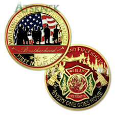 Wildland Firefighter Challenge Coin Honorable Gift for Fire Dept Brothers