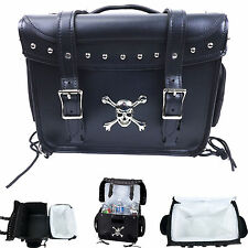 Motorcycle Skull Cooler Saddle Bag Travel Trunk Bobber Ice Chest Yamaha