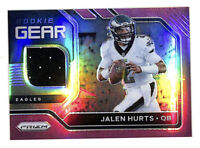 2020 Panini Prizm Jalen Hurts Rookie Gear jersey patch pink card Eagles