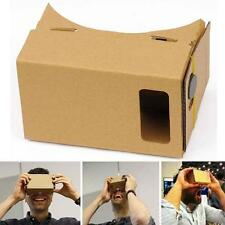 Google DIY Cardboard VR Viewer 3D Glasses for iphone 5s/6s Smart Phones Boxes UP