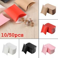 Wedding Favors Party Kraft Gift Bag Pillow Shape Christmas Paper Candy Boxes