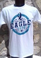 TEE SHIRT HOMME BLANC VINTAGE EAGLES .