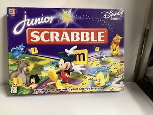 Junior Scrabble Disney Edition by Mattel Complete Tiles / Missing Card Tokens