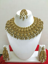 Bollywood Indian Bridal Necklace Earring Designer Gold Party Fashion Jewellery