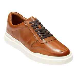 Cole Haan Men's GrandPro Rally Court Sneakers British Tan Leather 9 M NWB