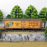 HO Scale Custom Painted Weathered Train Freight Box Car M Bix Refrigerator Line