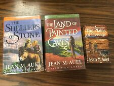 3 Jean M Auel Books in Series Earth's Children:  Plains Passage, Shelters Stone,