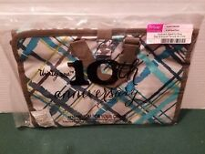Thirty One Uptown Jewelry Bag in Sea Plaid New