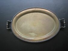 Vintage National Silver Co Silver on Copper Oval Tray w/ Handles