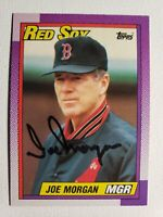 1990 Topps Joe Morgan Autograph Red Sox Card Signed, Auto #321