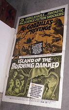GODZILLA'S REVENGE/ISLAND OF THE BURNING DAMNED orig 1sht poster CHRISTOPHER LEE