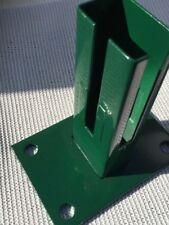 Bodenplatte für Zaunpfosten 60 x 40mm grün   Doppelstabmatte