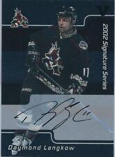 ITG Final Vault 2001-02 BAP Signature Series Autographs #142 Daymond Langkow
