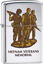 Vietnam Veteran Military Memorial High Polish Chrome  Zippo Lighter