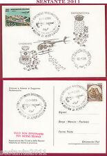ITALIA MAXIMUM MAXI MOSTRA AEROFILIA DISPACCIO CHIOMONTE 1986 BORGONOVO B. B692