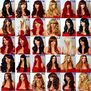 parrucca lunga bionda marrone nero rosso ricci ondulati costume moda donna corta
