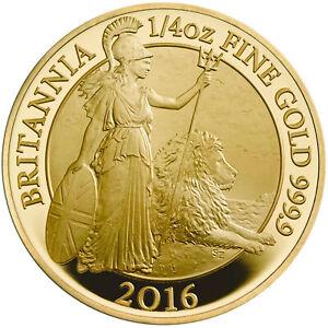 2016 UK Gold Proof Britannia 1/4 oz NGC PF 70 Ultra Cameo