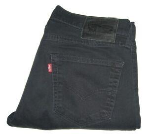 Mens LEVI'S 504 Regular Fit Straight Black (0140) Stretch Denim Jeans W32 L32