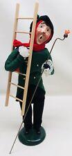 Byers Choice 1993 Lamp Lighter Christmas Caroler Victorian Man Ladder Signed