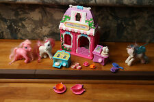 My Little Pony Cotton Candy Cafe w/ Figures & Accessories Works 2002 Hasbro