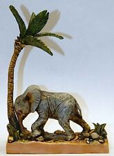 Harmony Kingdom artist Neil Eyre Designs Baby African Elephant safari palm tree
