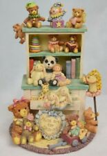 "The San Francisco Music Box Teddy Hugs Music Box ""Teddies and Toys Hutch"" New"