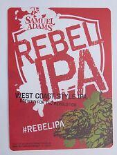 Bier Aufkleber ~ ~ Samuel Adams Rebel West Coast Stil Ipa ~ Boston,Massachusetts