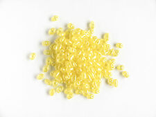Twin Hole Transparent Pearl Yellow Seed bead, 10g (Duos)