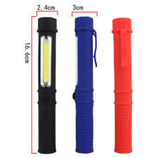 LED COB Bolsillo Bolígrafo Ligero Clip Imán Trabajo Inspección Linterna USB
