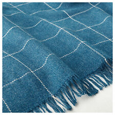 IKEA VÅRKRAGE (Varkrage) Blue Checked Sofa Throw (110x170cm)