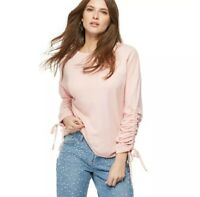 Red Herring – Pink Ruched Sleeves Sweater Size UK 10