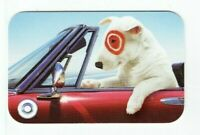 Target Gift Card Bullseye Dog -Driving Red Car - 2007- No Value - I Combine Ship