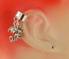 Silver Dragon Charm Drop/Dangle Ear Cuff Handmade NEW Accessories Fashion