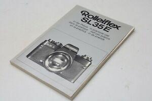 Rolleiflex SL35E in der Praxis Anleitung  Rollei Sammlerstück F2